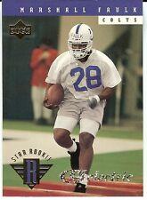 Rookie Upper Deck Marshall Faulk Single Football Cards