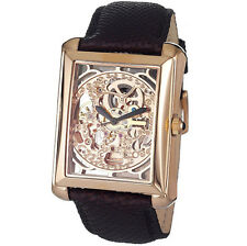 Skeleton Stainless Steel Band Wristwatches