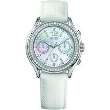 HUGO BOSS Armbanduhren mit Edelstahl-Armband und Chronograph für Damen