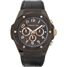 Cerruti Armbanduhren mit Armband aus echtem Leder für Herren