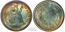 PCGS Certified MS 64 Graded Seated Liberty Dimes (1837-1891)