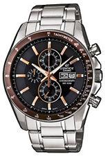 Quarz-Armbanduhren mit Batterie, Edelstahl-Armband und Chronograph für Herren