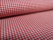 Stoff 100% Baumwolle 2 mm Zefir Karo rot weiß kariert Kleiderstoff Dekostoff