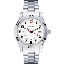 Wenger Armbanduhren aus Edelstahl mit Leuchtzeiger