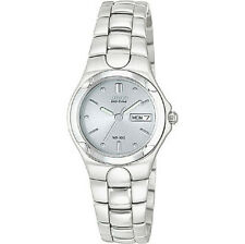 Women's Stainless Steel Band Wristwatches with Date Indicator