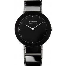 Quarz-(Batterie) Armbanduhren aus Keramik mit 12-Stunden-Zifferblatt und Matte