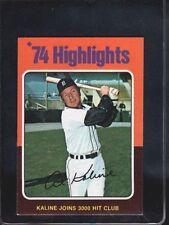 Al Kaline Detroit Tigers Original Single Baseball Cards