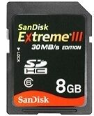 SanDisk SDHC 8GB Camera Memory Cards