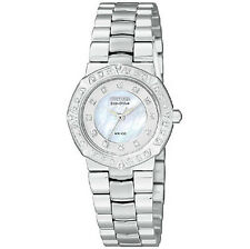 Stainless Steel Case Women's Citizen Eco-Drive Wristwatches