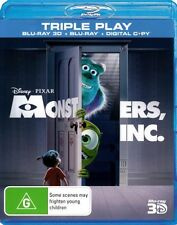Monsters, Inc.. 3D G Rated DVDs & Blu-ray Discs