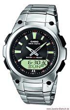Runde Armbanduhren aus Kunststoff mit Edelstahl-Armband für Herren