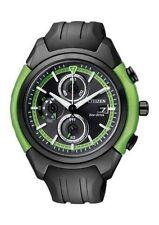 Schwarze Citizen Eco-Drive-Armbanduhren mit 100 m (10 ATM)