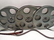"Lot of 3 Goldberg 35mm 14.5"" 2000ft. Antique Metal Film Reels"