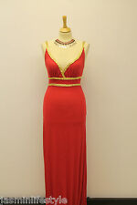 Ladies New Elegant Summer Gold Briaded Strap Grecian Long Abaya Maxi Beach Dress