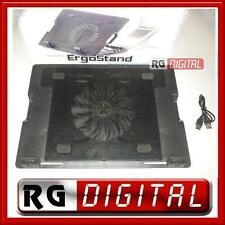 "VENTOLA RAFFREDDAMENTO PC PORTATILE NOTEBOOK DA 9"" A 17"" ERGOSTAND X-710 2 X USB"