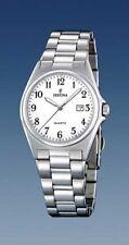 Polierte Quarz-(Batterie) Armbanduhren aus Edelstahl für Damen