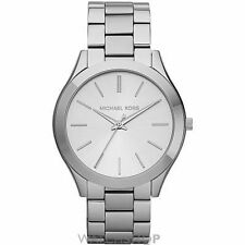 Runde Armbanduhren aus Edelstahl mit Glanz-Finish
