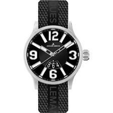 Sportliche Runde Jacques Lemans Armbanduhren mit Silikon -/Gummi-Armband