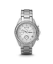 Fossil Quarz-Armbanduhren (Batterie) mit Chronograph für Damen