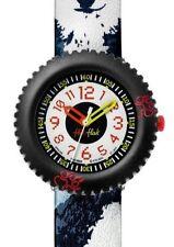 Runde Armbanduhren mit Textilgewebe-Armband für Damen