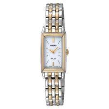 Stainless Steel Case Women's Seiko Solar Wristwatches