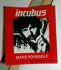 INCUBUS MAKE YOURSELF RED BLACK WHITE PHOTO FINGER CASE AMP MUSIC STICKER