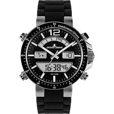 Jacques Lemans Armbanduhren aus Silikon/Gummi und Edelstahl mit Chronograph