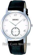 Seiko Armbanduhren aus Edelstahl mit 12-Stunden-Zifferblatt und Glanz-Finish
