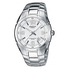 Sportliche polierte Armbanduhren aus Edelstahl mit Datumsanzeige