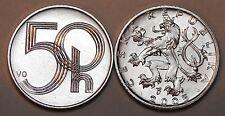 2005 Czech Republic 50 Haleru Coin BU Nice Uncirculated From Mint Bag KM# 3.2