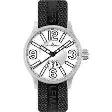 Jacques Lemans 100 m (10 ATM) Armbanduhren aus Silikon/Gummi für Erwachsene