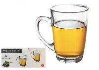 Set Of 6 Glass Tea Coffee Cups Mugs Drinking Drink Cup Milk Tea Dishwasher Safe