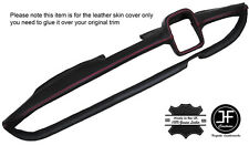 RED STITCHING DASH DASHBOARD LEATHER COVER FITS MERCEDES W110 W111