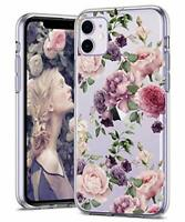 BSLVWG Clear Case For iPhone 11,flower Floral Flower Pattern Clear Design