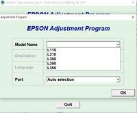 ,No Lock Adjustment Program Reset Epson L850 L810