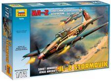 Zvezda 1/72 Soviet Armored Attack Aircraft IL-2 Stormovik # 7279