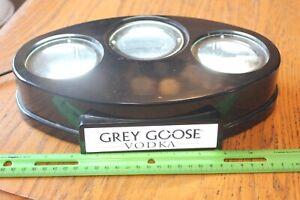 Grey Goose Vodka 3 Bottle Light Liquor Man Cave Advertising Bar Promo Stand Hold