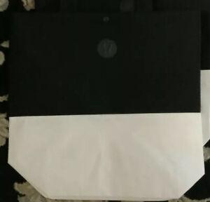 LULULEMON 1 Reusable Tote LARGE Bag~Holiday ~Black White Bag