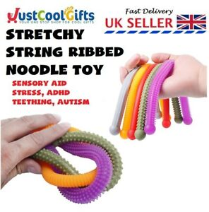 STRETCHY RIBBED NOODLE TANGLE TOY FIDGET STRING ANXIETY STRESS ADHD SENSORY AID