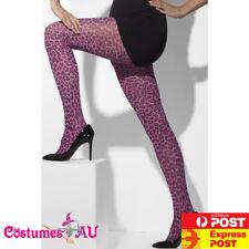 Ladies Purple  Leopard Print Tights Pantyhose Stockings Purple Panther Costume