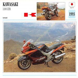 Fiche Photo Moto Japon Japan KAWASAKI 1100 ZZR 1993 Edit Edito Service
