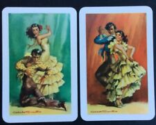 Swap Playing Cards - Spanish dancers (pair 2 Cards)