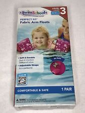 Girls Swim School 1 Pair Pink Soft Fabric Arm Floats Floaties Level 3 30-50 Lbs.