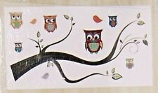 "NEW Removable Vinyl Wall Decals Owls On A Branch DCWV Sheet size 23.62"" x 12.59"""