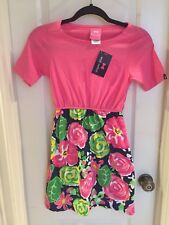 Simply Southern Dress Girl's GARDEN STRAWBERRY Size L/XL NEW Pink Blue