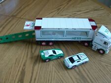 1997 HESS TOY TRUCK AND RACERS WITH LIGHTS ~ USED