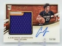 2019-20 Immaculate Cameron Johnson Rookie Patch Auto 50/50 Phoenix Suns RPA Card
