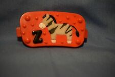 Evenflo Exersaucer MEGA JUNGLE SAFARI Switch a Roo Part Red Flat Fuzzy Zebra Toy