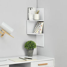 [en.casa]® Scaffale a muro zick zack board murale regale libreria mensola bianco