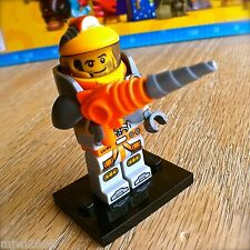 LEGO 71007 Minifigures SPACE MINER #6 Series 12 SEALED NEW Drill Helmet Suit Guy